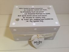 Shabby Personalised Chic Gift Bridesmaid Matron Maid Of Honour Trinket Box